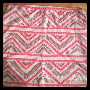 Express Aztec/tribal pattern sequin bodycon skirt